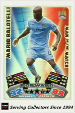 2011-12 Topps Match Attax Card Man Of Match Foil 387 Mario Baloteli