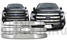 2015-2017 Ford F150 chrome grille grill insert overlay trim Lariat/KingRanch/FX4