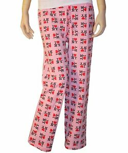 PINK OFFICIALLY LICENSED I LOVE NY HEART NEW YORK LOUNGE PAJAMA PANTS UNISEX