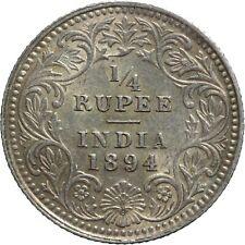 India-British 1/4 Rupee 1894