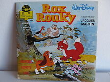 Livre disque Rox et Rouky  JACQUES MARTIN LLP383F 5504 BO Film Dessin animé