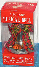 Gemmy ELECTRONIC MUSICAL BELL Christmas IN BOX PLAYS 18 HARMONIZED TUNES SONGS