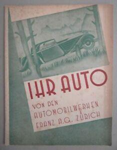Auto Katalog - Franz A.G. Zürich Chevrolet Phaeton Cabrio Master illustr. - 1934