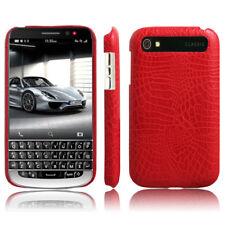 Luxury Crocodile Grain Leather Thin Phone Case Cover For BlackBerry Classic Q20