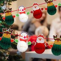 Christmas Ornaments Santa Claus Snowman Paper Ball Garland Christmas
