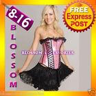 1721 Moulin Burlesque Corset Tutu Costume 8 10 12 14 16