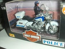 Toy Maisto 1:18 Harley California Highway Patrol Police Motorcycle series 4 CHP