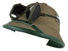 WW2 GERMAN ARMY AFRICA CORPS TROPICAL HELMET AND GOGGLES BY MILTEC