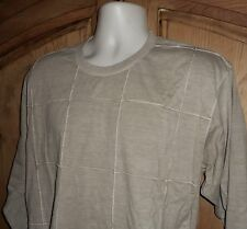 Rare ISSEY MIYAKE Tan Cotton L/S Shirt Exposed Seams JAPAN Made Size 4 US-L