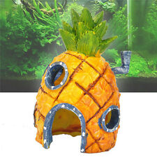 Hot Künstliche Ananas Haus Spongebob Aquarium Ornament Aquarium Dekoration CJ