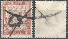 ---- FRANCE TIMBRE TAXE N°34 - OBLITÉRATION TRIANGLE + PLUME - COTE 100€ ----