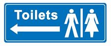 Toilets - arrow left - Information Self Adhesive Labels 100mm x 148mm 8ct