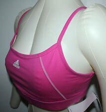 ADIDAS PERFORMANCE SPORTS TANK TOP BRA FOR WOMEN SMALL PINK