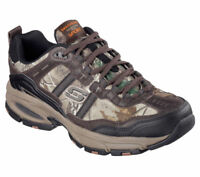 Wide Fit Camouflage Skechers Shoes Men Memory Foam Athletic Train Leather 51268