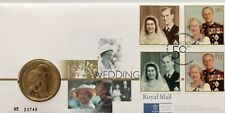 GB QEII PNC COIN COVER 1997 GOLDEN WEDDING ANNIVERSARY £5 Coin ROYAL MINT