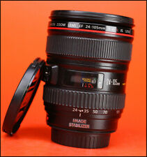 Canon EF 24-105mm F4 L IS Image Stabilizer USM AF Zoom Lens + F/R Lens Caps