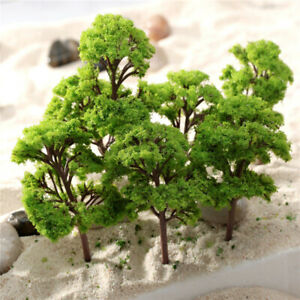 10pcs 9cm HO OO Scale Model Trees Train Railroad Layout Diorama Wargame Scenery