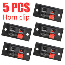 5x 2 Positions Push In Jack Spring Load Audio Speaker Panel Terminal Connector