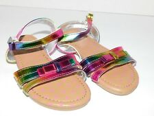Girl Toddler Sandals Shoes Size 6 7 8 9 Rainbow Shimmer