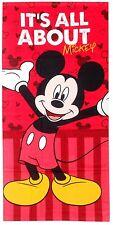 DISNEY serviette drap de bain plage  70 x 140 cm MICKEY rouge neuve