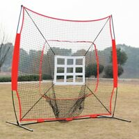 Baseball Practice Net Batting Pitching Hitting Softball Thrower Strike Zone Back