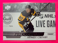 2020-21 Upper Deck Series 1 Predominant #PR-8 Sidney Crosby Pittsburgh Penguins