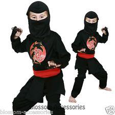 Ninja Japanese Japan Asian Kung Fu Warrior Dress up Boys Costume 3 - 5