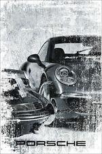 """Porsche Car Dealer Garage Abstract Poster Original Art Print Poster 24"""" x 36"""""""