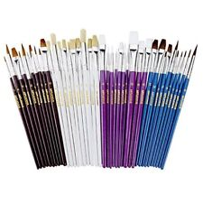 Artlicious  40 Paint Brush Super Pack  Great with Acrylic Oil Watercolor Gouache