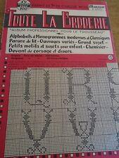 ANCIEN **ALBUM POUR LE TROUSSEAU TOUTE LA BRODERIE N°49 ANNE 1957