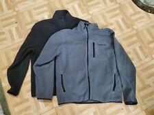 Lot of 2 Timberland Fleece Jackets Men's Size Medium - Grey and Black