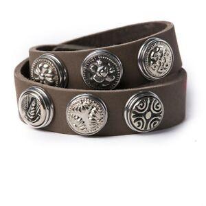 Noosa Amsterdam Armband Wrap Bracelet Double Skinny grey    ehem. UVP 34,95€