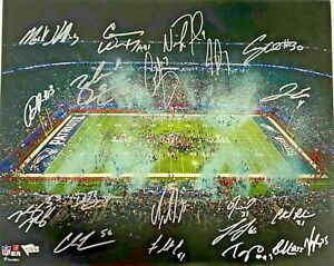 Philadelphia Eagles Team Signed Super Bowl LII 16x20 Photo Fanatics Hologram