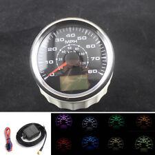 Φ85mm 0~120km/h 8Colors Backlight LCD GPS Speedometers mileometers 0-80MPH