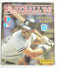 Baseball 1988 Panini Sticker Album with some cards and clean Fleer Sticker Album
