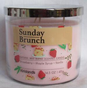 Kirkland's 14.5 oz Large Jar 3-Wick Candle Natural Wax Blend SUNDAY BRUNCH