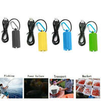 Portable USB Pool Pond Fish Tank Oxygenator Oxygen Aerator Air Pump Practical