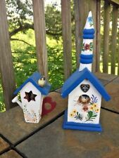 Antique Primitive BLUEBIRD of HAPPINESS WREN Birdhouses Pennsylvania Dutch ❤️J8