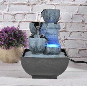 Unique WATERFALL Rockery Fountain Resin DECORATION Desktop FENG SHUI Ornaments