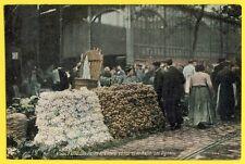 cpa PARIS Le MARCHÉ Les HALLES 6 à 8 Heures Les OIGNONS Cachet 1916 du 103e RAL