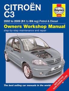 Reparaturhandbuch / -anleitung Citroen C3 02, 03, 04, 05, 06, 07, 08 & 2009