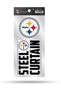 Pittsburgh Steelers Double Up Sticker Sheet Die Cut Decal New Team Color 2 Logos