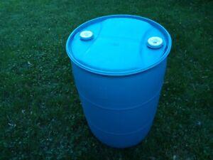 55 Gallon Food Grade Barrel Drum Water RAIN BLUE Barrels drum drums container