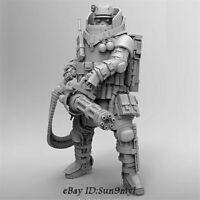 1/24 Heavy machine gunner Soldier Resin Kits Unpainted Model GK Unassembled