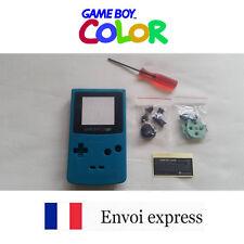 Coque GAME BOY COLOR bleu cyan NEUF NEW + tournevis triwing -étui shell case GBC