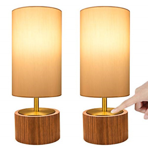 DEEPLITE Touch Control Table Lamp Set of 2, Bedside Lamp Dimmable Touch Light