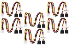 Aleratec LP4 to SATA Female 1:2 Y Splitter Power Cable 16 in 6-Pack