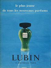 PUBLICITE ADVERTISING 045  1956  LUBIN  parfum GIN FIZZ