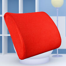Back Support Cushion Memory Foam Lumbar Office Home Chair Car Seat Pillow Red