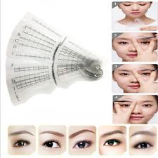 12X DIY Eyebrow Grooming Shaping Stencil Kit Brow Template Makeup Shaper Tool FT